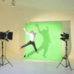 studio de location à Paris fond vert